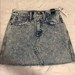 Abercrombie & Fitch Acid Wash Denim Mini Skirt